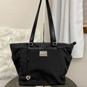 Brighton Black Canvas Tote